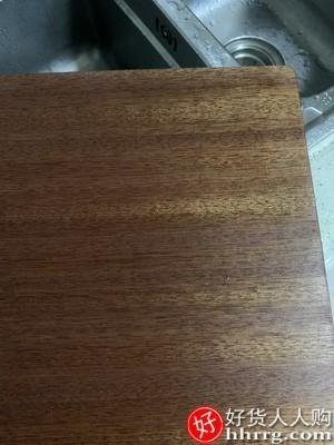 interlace,1# - 原森太乌檀木整木菜板,家用抗菌防霉砧板实木切菜板案板粘板