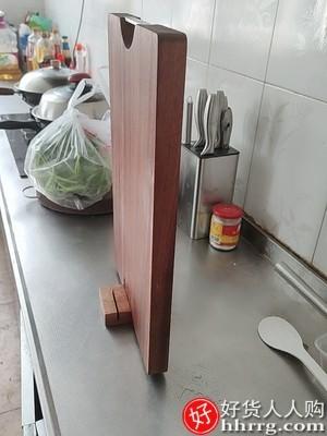 interlace,1# - 千年恋木乌檀木菜板,实木家用砧板抗菌防霉切菜板子整木厨房占案板