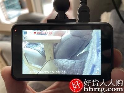 interlace,1# - 零镜无线行车记录仪,高清前后双镜头带电子狗测速免安装汽车载