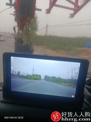 interlace,1# - 好奇号S9货车行车记录仪,高清夜视前后双录大小中控台专用倒车影像24V