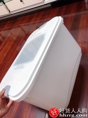 interlace,1# - 纳份爱厨房装米桶家用密封米箱20斤,米缸面粉储存罐防虫防潮大米收纳盒