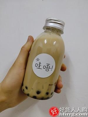 interlace,1# - 美涤奶茶瓶子杨枝甘露包装瓶,可循环果汁饮料瓶塑料一次性带盖空瓶