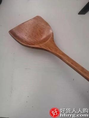 interlace,1# - 索比特家用木铲子木勺,不粘锅专用长柄炒菜铲子木铲耐高温木质锅铲菜铲头