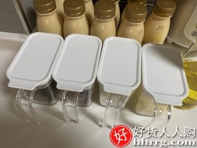interlace,1# - 日本asvel调料盒家用调料罐,厨房盐罐调味瓶罐子带勺佐料收纳盒