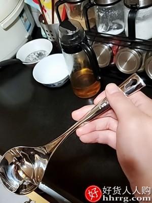 interlace,1# - 德国ive厨房过滤油汤勺,304不锈钢汤勺油汤分离器滤油去油漏勺