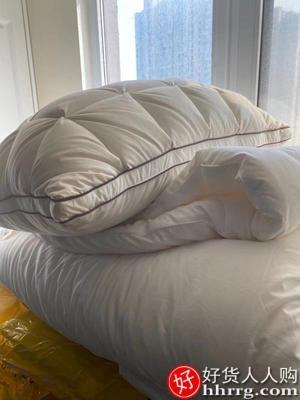 interlace,1# - 南极人羽绒枕95白鹅绒枕头,家用成人单人双人五星级酒店枕芯一对装