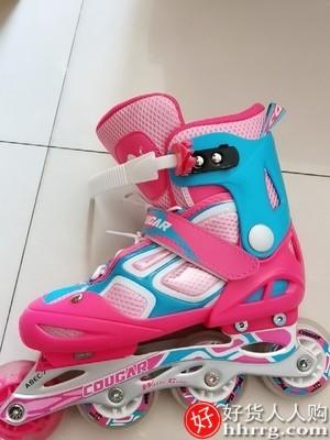 interlace,1# - 美洲狮溜冰鞋,儿童初学者轮滑鞋全套装专业滑冰旱冰鞋