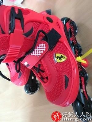 interlace,1# - 法拉利溜冰鞋,儿童全套装轮滑鞋女童男童旱冰鞋