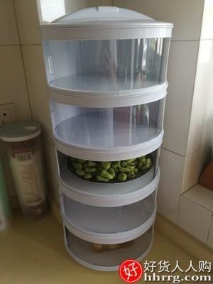 interlace,1# - 桑代厨房置物架,剩菜多层收纳架子旋转多功能保温碗盘神器