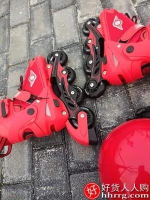 interlace,1# - 威轮滑鞋儿童溜冰鞋全套装,专业轮滑鞋送头盔护具四轮全闪