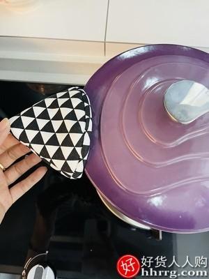 interlace,1# - 归禾器铸铁锅白珐琅锅,搪瓷煮锅紫色炖锅家用电磁炉煲汤熬汤锅