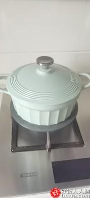 interlace,1# - 北鼎珐琅锅铸铁煲汤家用焖炖锅,多功能炒锅进口平底锅具电磁炉蒸锅