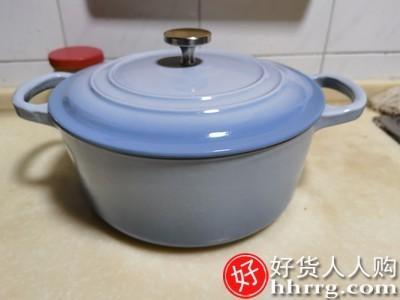 interlace,1# - 铁工房铸铁珐琅锅汤锅,家用砂锅煲汤炖锅焖烧锅搪瓷蒸锅