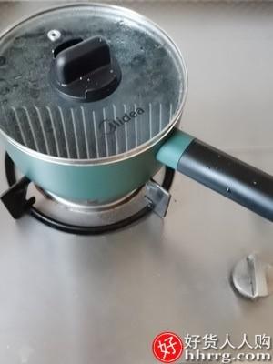 interlace,1# - 美的奶锅宝宝婴儿辅食锅,电磁炉燃气通用麦饭石不粘小奶锅泡面汤锅