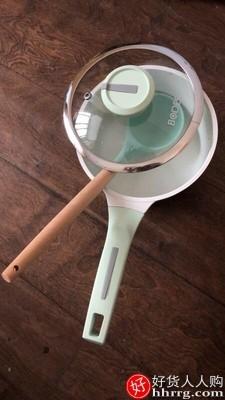 interlace,1# - 堡迪斯陶瓷宝宝辅食锅,煎煮一体儿童专用锅搪瓷无劣质涂层不粘小奶锅