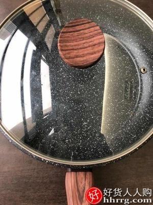 interlace,1# - 炊达人麦饭石平底锅不粘锅,家用牛排煎锅小烙饼不沾燃气灶适用电磁炉专用
