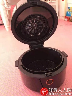interlace,1# - 九阳家用空气炸锅,全自动智能大容量无油多功能可视电炸锅