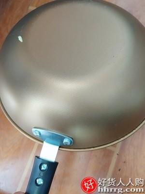 interlace,1# - 南极人不粘锅炒锅,家用炒菜锅电磁炉煤气灶专用平底锅
