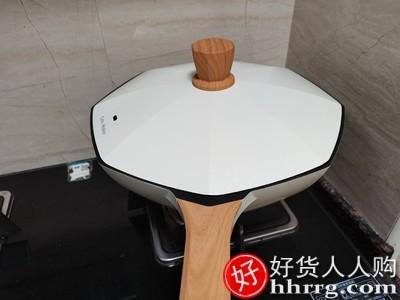 interlace,1# - 卡特马克麦饭石不粘锅炒锅,家用炒菜锅八角锅煤气灶电磁炉专用