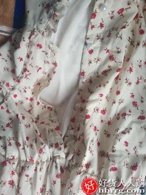 interlace,1# - 卡拉尔贝齐小个子法式初温柔风碎花连衣裙,雪纺气质女装夏装
