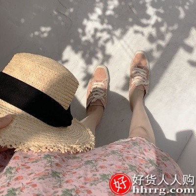 interlace,1# - 亲亲鸟春夏季连衣裙,法式收腰显瘦小清新气质粉色碎花连衣裙