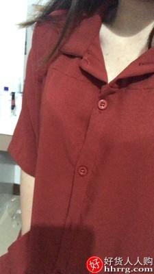 interlace,1# - 姿态玫瑰夏季连衣裙,收腰显瘦气质衬衫裙长裙脚踝