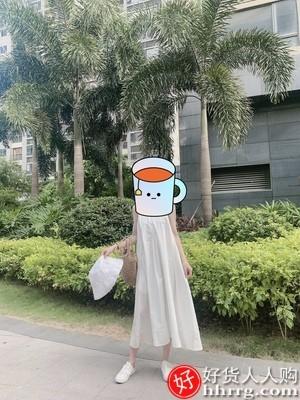 interlace,1# - 简缇菲小众白色吊带连衣裙,设计感法式气质初恋长裙