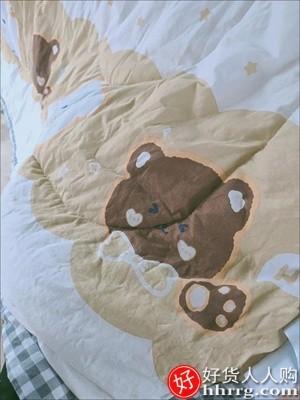 interlace,1# - 洁丽雅全棉夏凉被,四件套薄款纯棉空调被可水洗单双人