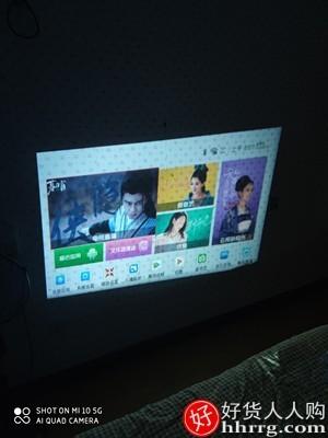 interlace,1# - 普沃达智能投影仪E400S,家用小型便携式无线家庭影院投影手机一体机1080p电视投影机