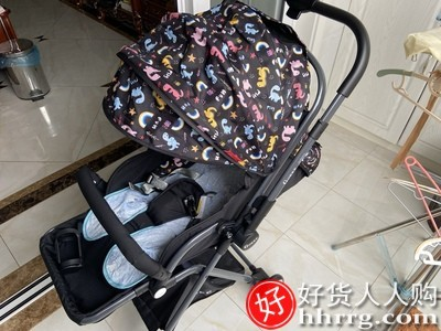interlace,1# - GOKKE双向婴儿手推车,高景观轻便可坐可躺折叠避宝宝儿童伞车