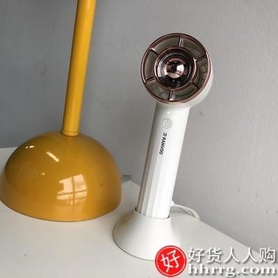 interlace,1# - 锐舞手持小风扇,迷你usb便携式随身小型电风扇静音充电型大风无叶手拿电扇