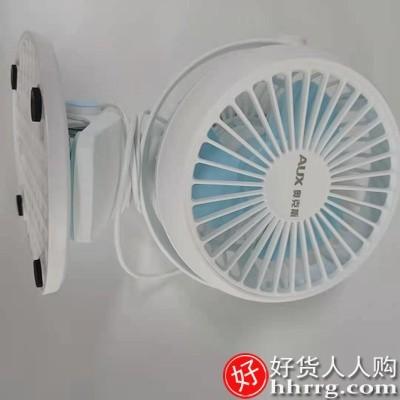 interlace,1# - 奥克斯桌面小风扇,轻音办公室桌上迷你小型台式usb充电型夹扇