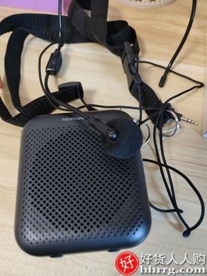 interlace,1# - 诺为小蜜蜂扩音器,无线耳麦话筒迷你播放机腰挂便携式蓝牙小型喇叭