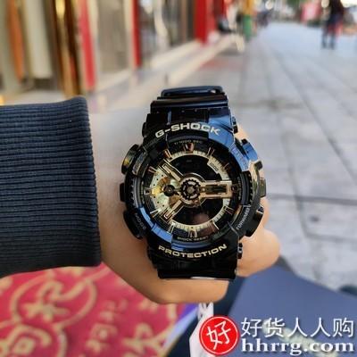 interlace,1# - casio旗舰店电子手表,卡西欧GA-110GB黑金运动学男士电子手表