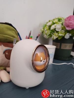 interlace,1# - 酷火小型usb加湿器,办公室桌面家用静音净化空气精油香薰机喷雾无线夜灯