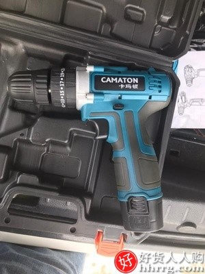 interlace,1# - 德国卡玛顿充电式手电钻手枪钻,家用冲击手钻工具电动螺丝刀锂电转