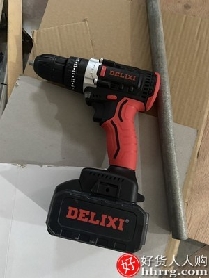 interlace,1# - 德力西锂电充电式家用多功能手电钻,冲击钻手枪钻电动螺丝刀工具