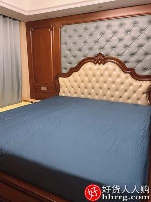 interlace,1# - 凡客居床笠单件全棉床垫套,防滑固定纯棉床单床罩席梦思保护套