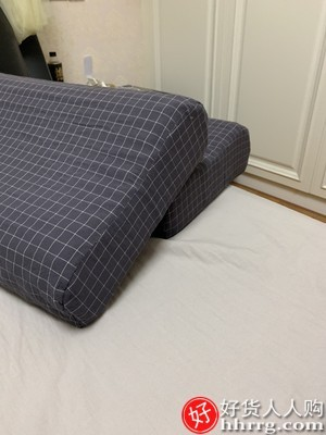interlace,1# - 南极人泰国天然乳胶枕头,护颈枕颈椎枕枕芯成人橡胶枕记忆枕一对装