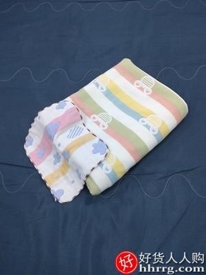 interlace,1# - 优宜六层纱布毛巾被,纯棉单人薄款全棉毯子儿童婴儿午睡盖毯夏凉被