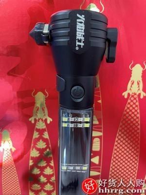 interlace,1# - 火焰战士汽车安全锤,车用多功能手电筒车载自救逃生锤破窗神器