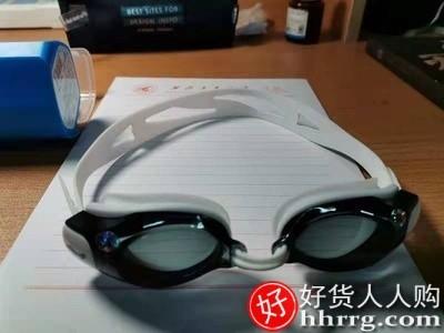interlace,1# - 李宁泳镜防水防雾高清,男女近视专业游泳眼镜潜水镜泳帽套装