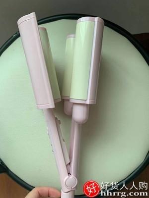 interlace,1# - 鑫迪蛋卷头卷发棒,水波纹波浪鸡蛋糕大卷神器夹板电卷发器