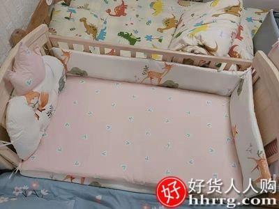 interlace,1# - 简魅婴儿床多功能宝宝床,实木无漆摇篮新生儿可移动拼接大床