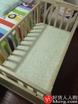 interlace,1# - 英翔婴儿床可移动实木宝宝床,儿童新生儿小床多功能摇篮床拼接大床