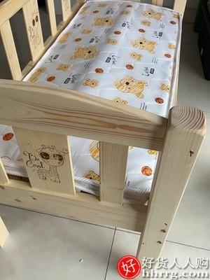 interlace,1# - 祺艺实木儿童床单人床,公主婴儿床拼接大床加宽床边小床带护栏