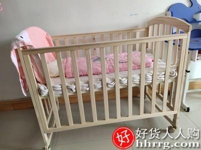 interlace,1# - 爱里奇婴儿床实木原木新生儿床,多功能可移动可变儿童床拼接大床