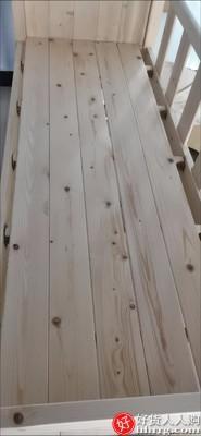 interlace,1# - 永染坊实木儿童床带护栏单人拼接床,加宽床边大人侧边床婴儿拼接大床