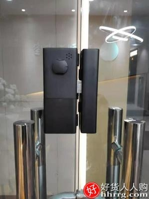interlace,1# - 智门星玻璃门指纹锁免开孔,办公室密码锁遥控智能锁单双门无框门禁带考勤