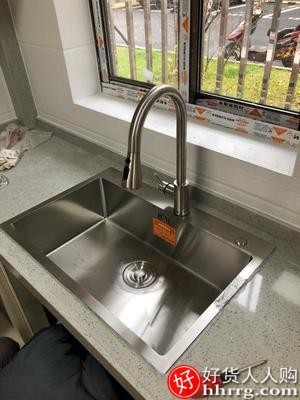 interlace,1# - 卡贝家用手工水槽,304不锈钢加厚洗碗槽厨房大水池菜盆洗菜盆单槽